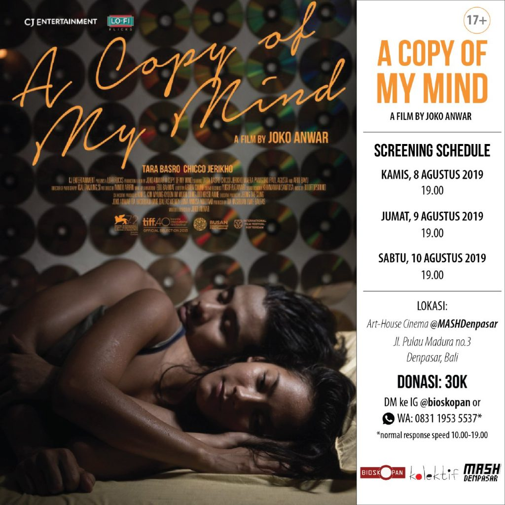 A Copy of My Mind Screening 2019